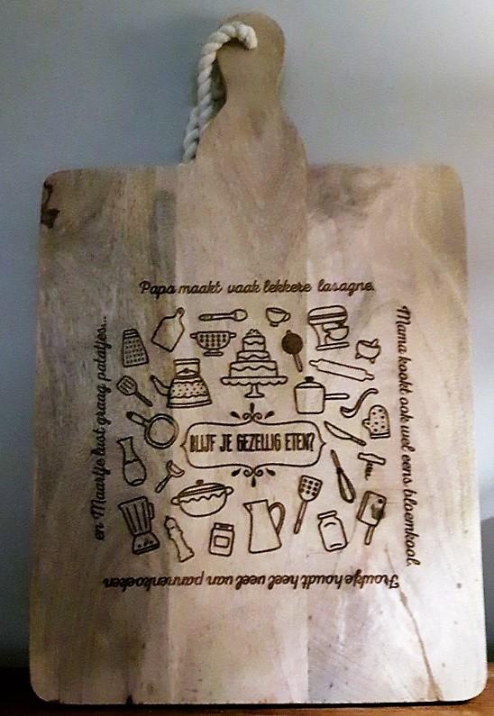 Verwonderlijk Snijplanken Mangohout - Stempelfun- Stempels maken en graveren YJ-25