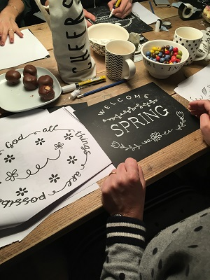 Handletteren workshop