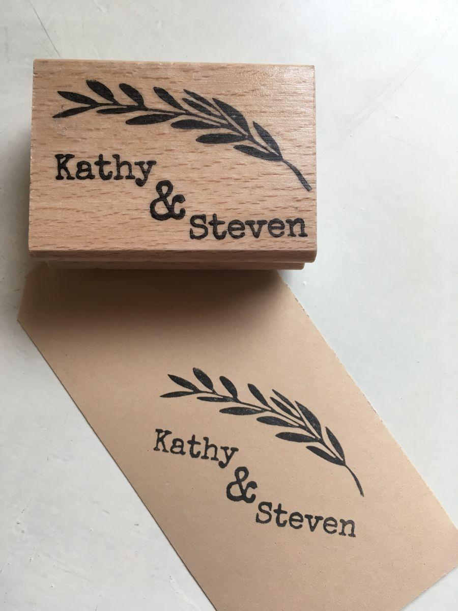 Stempel bruiloft bestellen