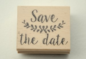 zelfgemaakte stempel Save the Date