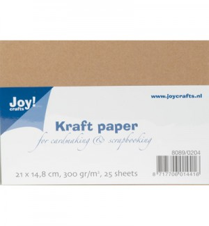 Kraft karton A5 (300 grams/25 sheets)