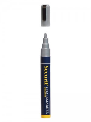 Chalkmarker medium zilver